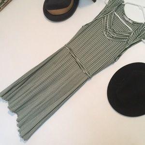 Striped green dress